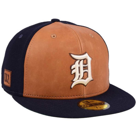 Detroit Tigers New Era MLB X Wilson Leather Front 59FIFTY Cap