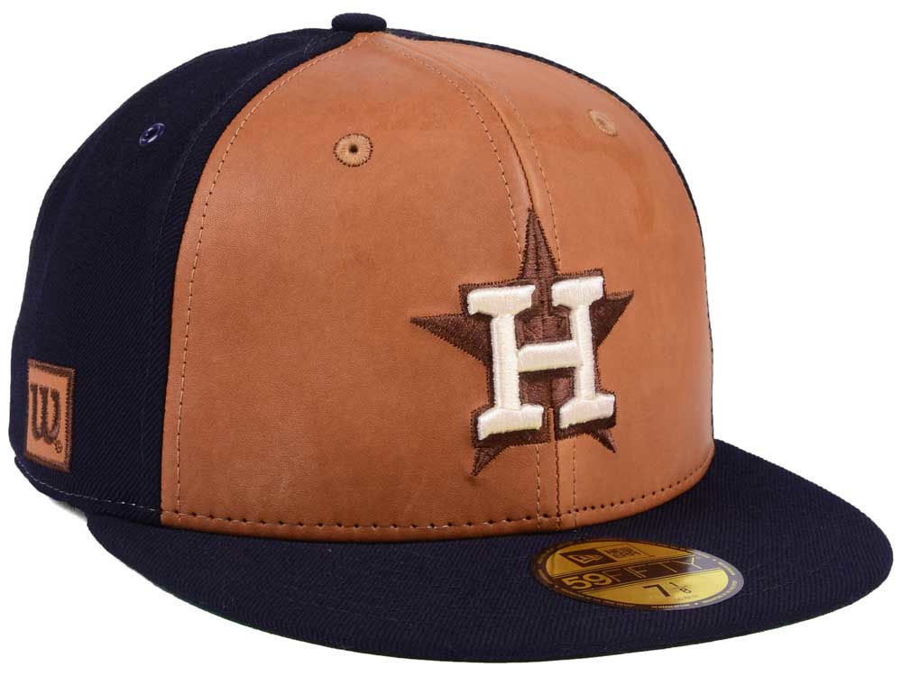 e8d546adc5b Houston Astros New Era MLB X Wilson Leather Front 59FIFTY Cap