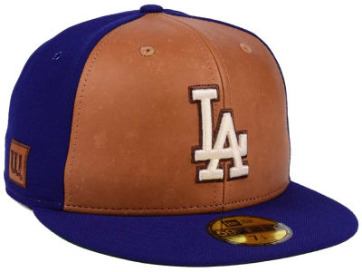 Los Angeles Dodgers New Era MLB X Wilson Leather Front 59FIFTY Cap