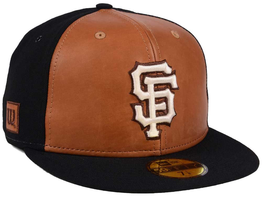 free shipping 19598 2a638 ... where to buy san francisco giants new era mlb x wilson leather front  59fifty cap ea054