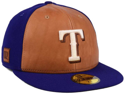 Texas Rangers New Era MLB X Wilson Leather Front 59FIFTY Cap