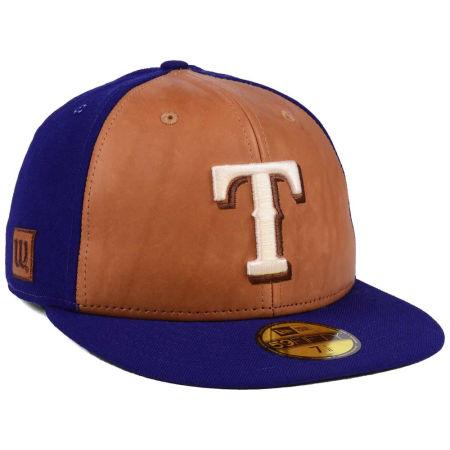 Texas Rangers New Era MLB X Wilson Leather Front 59FIFTY Cap
