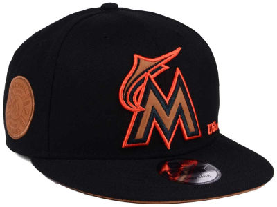 Miami Marlins New Era MLB X Wilson Side Hit 9FIFTY Snapback Cap