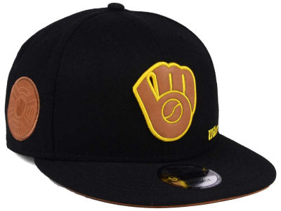 Milwaukee Brewers New Era MLB X Wilson Side Hit 9FIFTY Snapback Cap