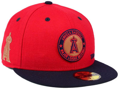Los Angeles Angels New Era MLB X Wilson Circle Patch 59FIFTY Cap