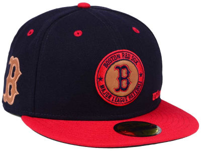 Boston Red Sox New Era MLB X Wilson Circle Patch 59FIFTY Cap