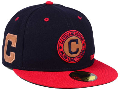 Cleveland Indians New Era MLB X Wilson Circle Patch 59FIFTY Cap