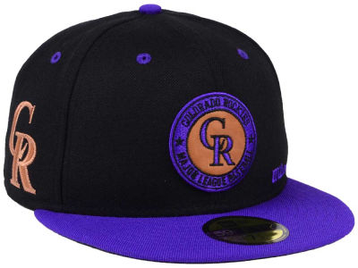Colorado Rockies New Era MLB X Wilson Circle Patch 59FIFTY Cap