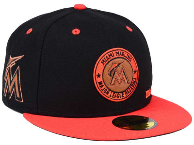 Miami Marlins New Era MLB X Wilson Circle Patch 59FIFTY Cap