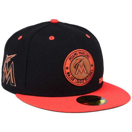 Miami Marlins New Era MLB X Wilson Circle Patch 59FIFTY Cap