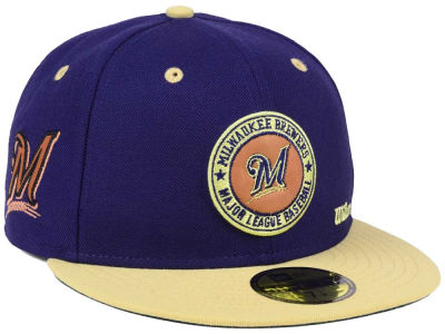 wholesale dealer 62148 791f9 ... clearance milwaukee brewers new era mlb x wilson circle patch 59fifty  cap 4ff22 ef295