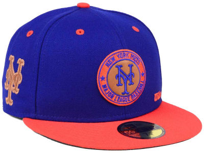 New York Mets New Era MLB X Wilson Circle Patch 59FIFTY Cap