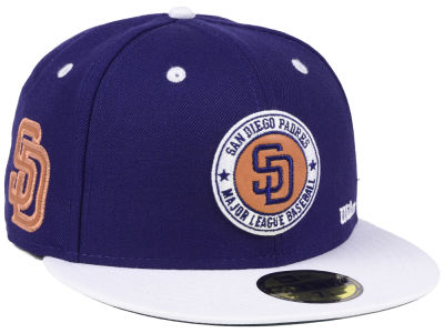 San Diego Padres New Era MLB X Wilson Circle Patch 59FIFTY Cap