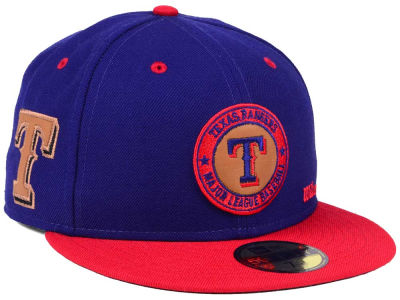 Texas Rangers New Era MLB X Wilson Circle Patch 59FIFTY Cap