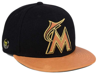 Miami Marlins New Era MLB X Wilson Metallic 59FIFTY Cap