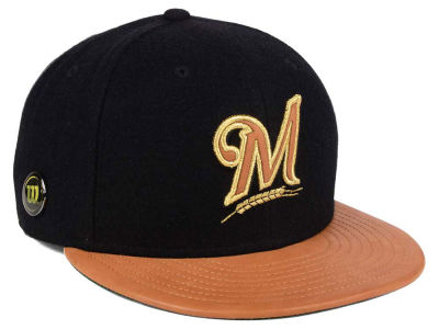 Milwaukee Brewers New Era MLB X Wilson Metallic 59FIFTY Cap