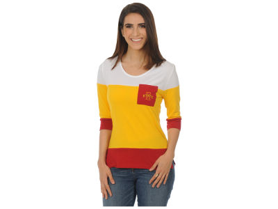 Iowa State Cyclones University Girls NCAA Women's Striped 3/4 Sleeve T-Shirt