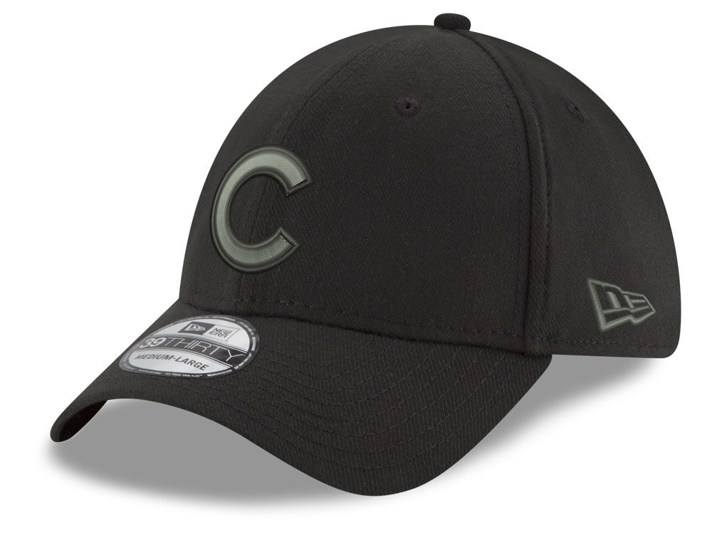 Chicago Cubs New Era MLB Black and Charcoal Classic 39THIRTY Cap ... ad4bdc73894