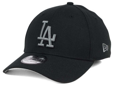 Los Angeles Dodgers New Era MLB Black and Charcoal Classic 39THIRTY Cap