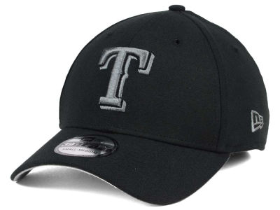 Texas Rangers New Era MLB Black and Charcoal Classic 39THIRTY Cap