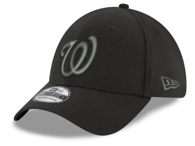 Washington Nationals New Era MLB Black and Charcoal Classic 39THIRTY Cap