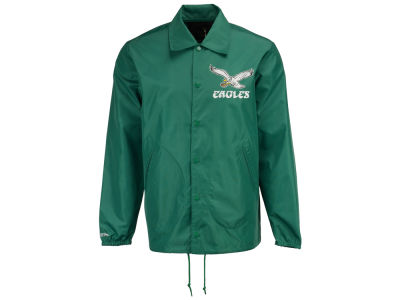 Philadelphia Eagles Mitchell & Ness NFL Men's Coaches Nylon Snap Jacket