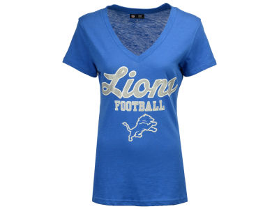 Detroit Lions G-III Sports NFL Women's Playoff Glitter T-Shirt