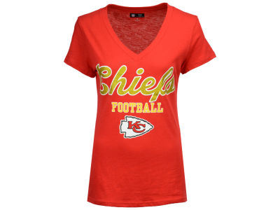 Kansas City Chiefs G-III Sports NFL Women's Playoff Glitter T-Shirt