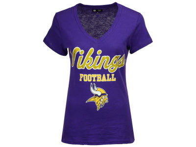 Minnesota Vikings G-III Sports NFL Women's Playoff Glitter T-Shirt