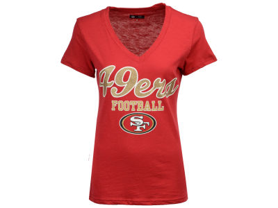 San Francisco 49ers G-III Sports NFL Women's Playoff Glitter T-Shirt