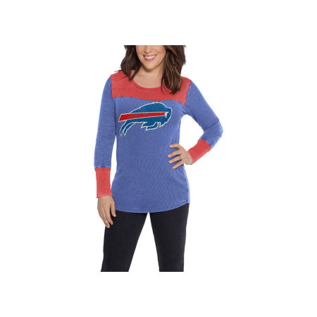 Buffalo Bills Touch By Alyssa Milano NFL Women's Blindside Thermal Long Sleeve T-Shirt