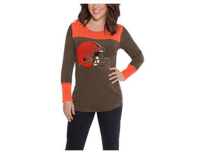 Cleveland Browns Touch by Alyssa Milano NFL Women's Blindside Thermal Long Sleeve T-Shirt