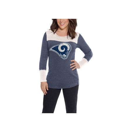 Los Angeles Rams Touch By Alyssa Milano NFL Women's Blindside Thermal Long Sleeve T-Shirt