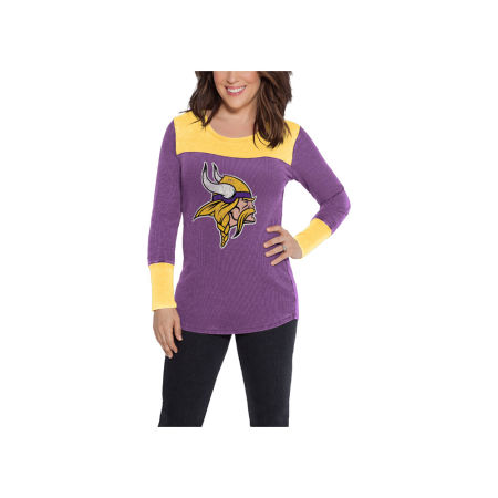 Minnesota Vikings Touch By Alyssa Milano NFL Women's Blindside Thermal Long Sleeve T-Shirt