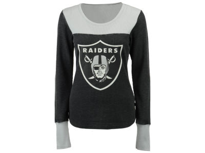 Oakland Raiders Touch by Alyssa Milano NFL Women's Blindside Thermal Long Sleeve T-Shirt