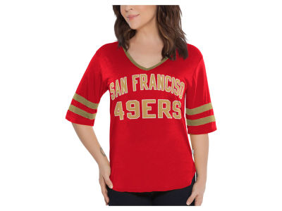 San Francisco 49ers Touch by Alyssa Milano NFL Women's Quarterback T-Shirt