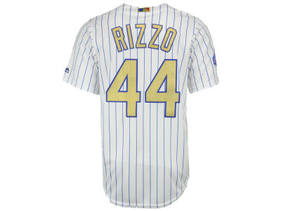 Chicago Cubs Anthony Rizzo Majestic MLB World Series Gold Replica CB Jersey