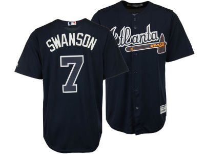 Atlanta Braves Dansby Swanson Majestic MLB Men's Player Replica Cool Base Jersey
