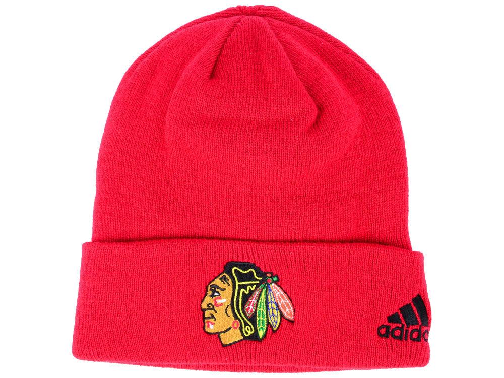hot sale online e3698 1a2d8 ... shop chicago blackhawks adidas nhl basic cuff knit c6aeb f7bbf