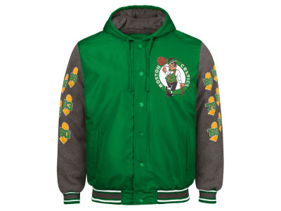 Boston Celtics G-III Sports NBA Men's Top Brass Hooded Varsity Jacket
