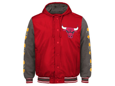 Chicago Bulls G-III Sports NBA Men's Top Brass Hooded Varsity Jacket