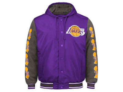 Los Angeles Lakers G-III Sports NBA Men's Top Brass Hooded Varsity Jacket