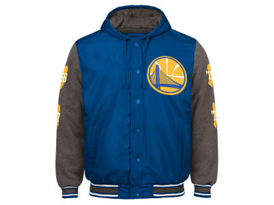 Golden State Warriors G-III Sports NBA Men's Top Brass Hooded Varsity Jacket