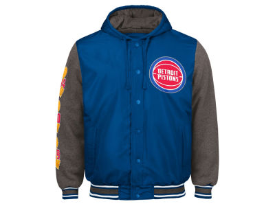 Detroit Pistons G-III Sports NBA Men's Top Brass Hooded Varsity Jacket