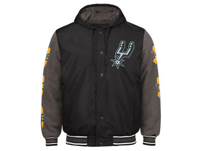 San Antonio Spurs G-III Sports NBA Men's Top Brass Hooded Varsity Jacket