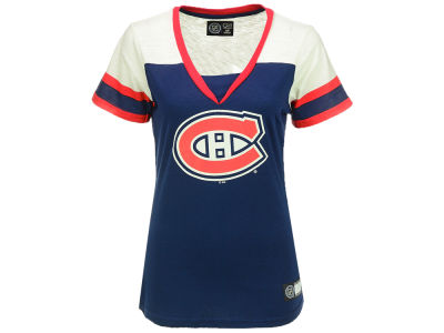 Montreal Canadiens G-III Sports NHL Women's Cut & Sew V-Neck T-Shirt