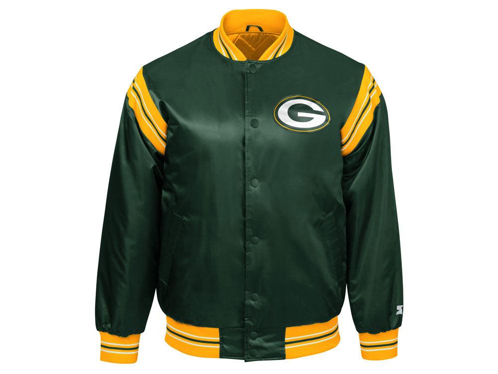 d3d085150 Green Bay Packers Starter NFL Men s The Enforcer Satin Jacket