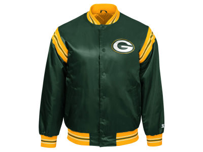 Green Bay Packers Starter NFL Men's The Enforcer Starter Satin Jacket