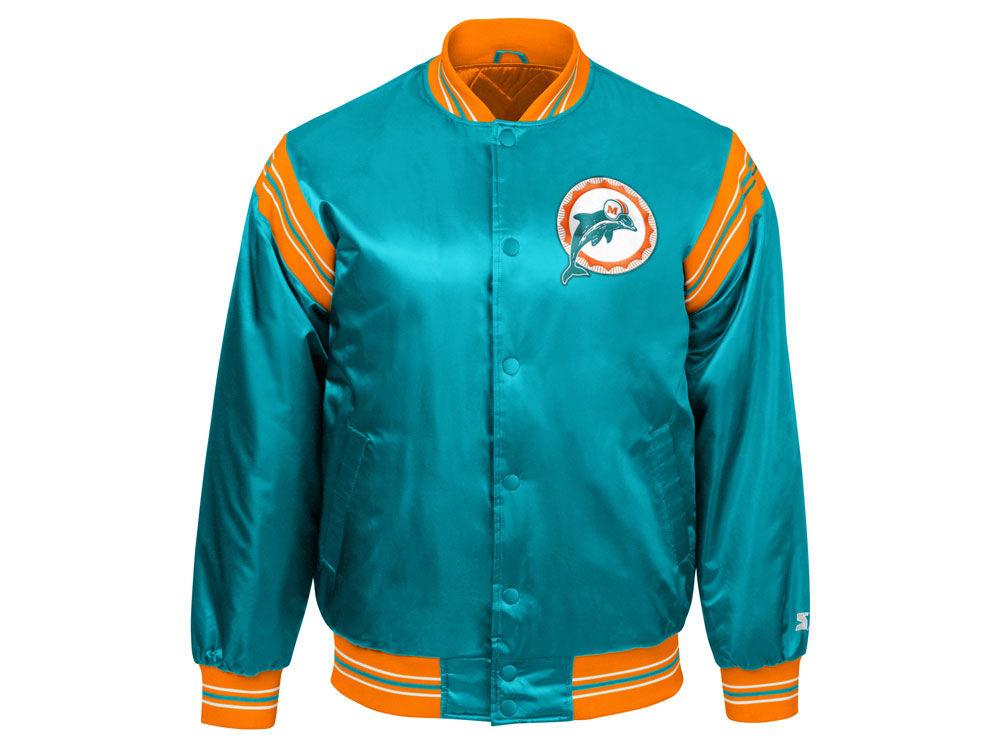 7f15d020d Miami Dolphins Starter NFL Men s The Enforcer Satin Jacket