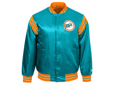 Miami Dolphins Starter NFL Men's The Enforcer Starter Satin Jacket